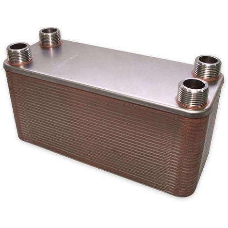 Hrale Intercambiador calor térmico acero inoxidable 50 placas Termocambiador placas máx. 285 kW