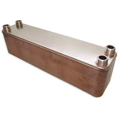 Hrale Intercambiador calor térmico acero inoxidable 50 placas Termocambiador placas máx. 550 kW