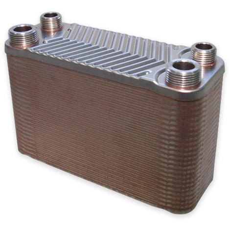 Hrale Intercambiador calor térmico acero inoxidable 50 placas Termocambiador placas máx. 90 kW