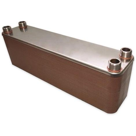 Hrale Intercambiador calor térmico acero inoxidable 60 placas Termocambiador placas máx. 660 kW