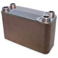 Hrale Stainless Steel Heat Exchanger 50 Plates max. 90 kW Plate Heat Exchanger