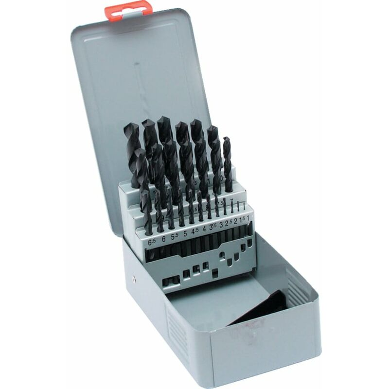 Image of HSS Drill Set 1.0-13.0MM X 0.5MM Metal Case - Cleveland