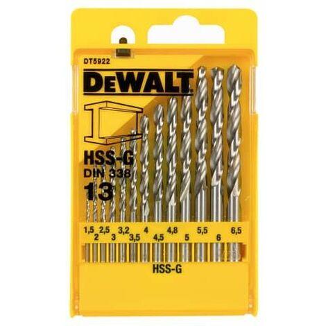 HSS G Jobber Drill Bit Set, 13 Piece (DEWDT5922QZ)
