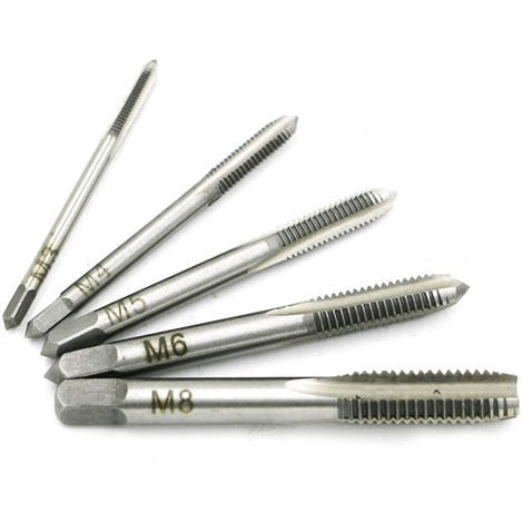 Hss Metric Bit Screw Thread Tap Drill Bit For Machine Tools 5Pcs