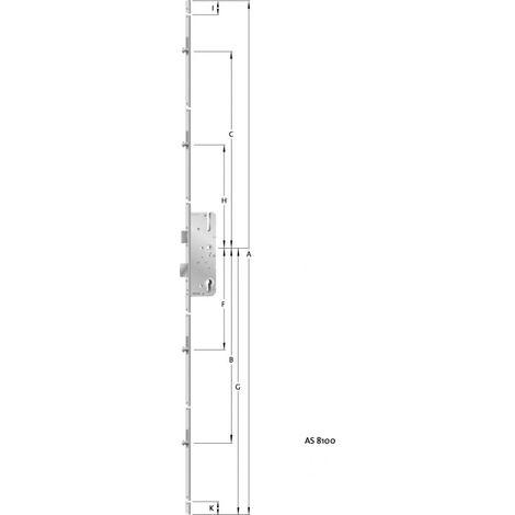 HT-cierre múltiple puerta PZ,E92,VK8,D35,16ktDL/DR