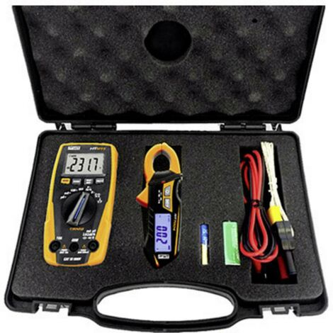 HT Instruments e-KIT Multimetro portatile, Pinza amperometrica digitale CAT III 600 V Display (Counts): 4000