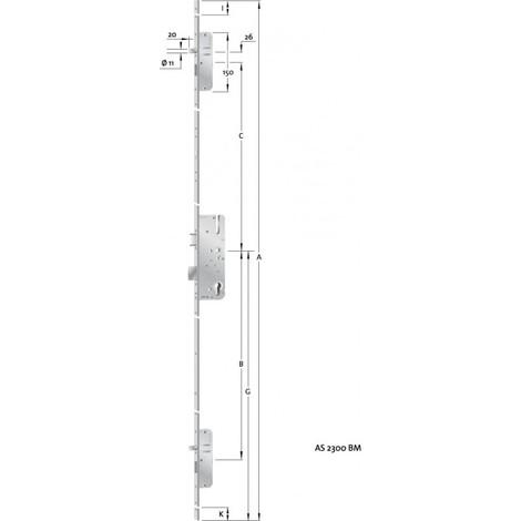 HT-Verouillage multiple porte PZ,E92,VK10,D45,16ktDL/DR