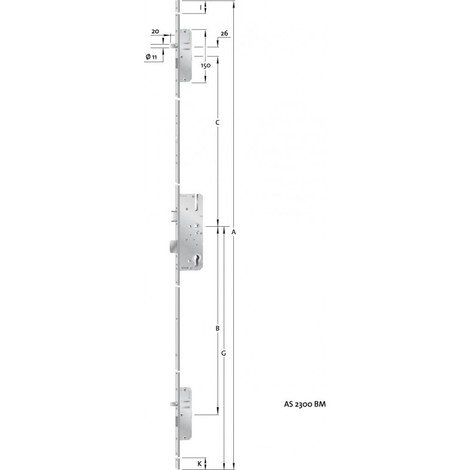 HT-Verouillage multiple porte PZ,E92,VK10,D55,20ktDL/DR
