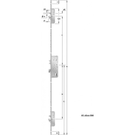 HT-Verouillage multiple porte PZ,E92,VK8,D45,24ktDL/DR