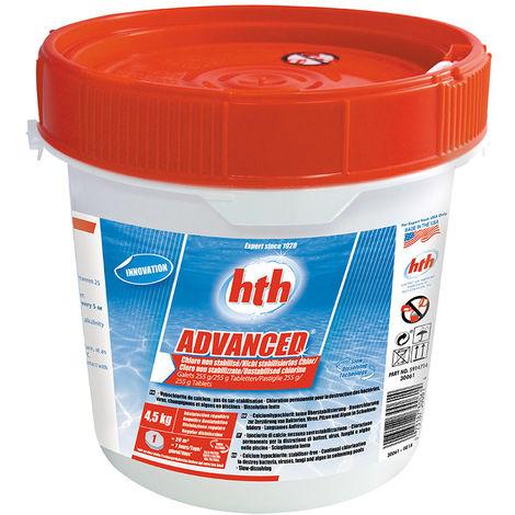 HTH Advanced - Chlore non stabilisé à diffusion lente Quantité - Seau de 4,5 kg