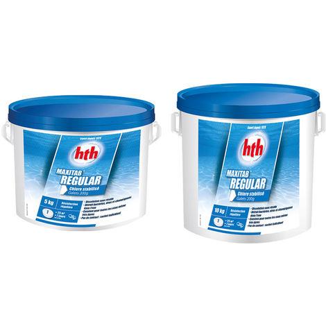 HTH Maxitab regular - chlore lent Quantité - Seau de 5 kg