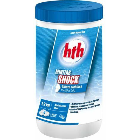 HTH Minitab Shock 1,2kg - Chlore stabilisé pastilles 20g
