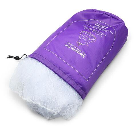 Htovila moustiquaire dome suspendu a une porte avec sac de rangement moustiquaire en polyester 60 * 250 * 1200cm blanc