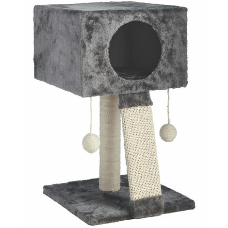 Huamao Cat N Scratch Cat Tower (One Size) (Grey/White)