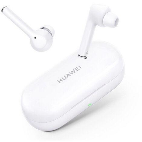 HUAWEI FreeBuds 3i, Color White - Oreillette sans fil avec suppression active du bruit (connexion Bluetooth ultra rapide, haut-parleur de 10 mm).