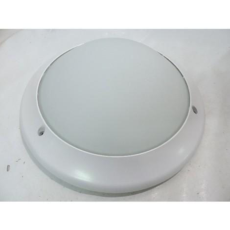 Hublot architectural blanc LED 22W Ø 366mm 4000K avec détecteur de présence diffuseur verre dépoli KOREO-ARC SARLAM 820194