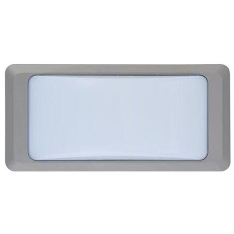 Hublot BADEM rectangulaire gris à LED 12W (Eq. 96W) IP65 4200K Dim. 230x110x76mm