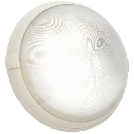 Hublot blanc antivandale avec diffuseur polycarbonate transparent Super 400 à détection HF et douille E27 à équiper (700570)