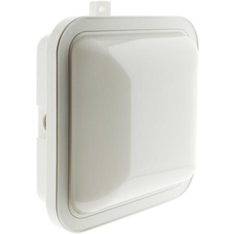 Hublot carré LED - IP44 - Blanc - 5,5 ou 15W