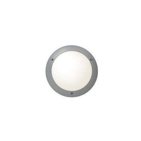 Hublot Chartres Origine intérieur - E27 - 53W - Fonction On/Off - Rond - Gris métal - Non dimmable
