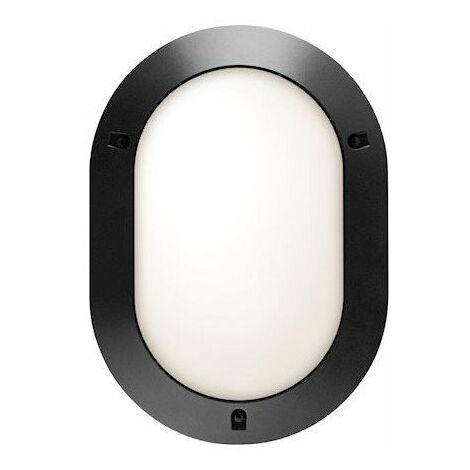 Hublot Chartres Origine lampe fluo intérieur - 15W - 4000K - Détecteur HF - Ovale - Noir - Non dimmable