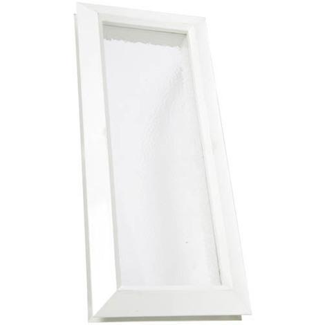 Hublot décoratif rectangulaire 380x165 vitre incolore