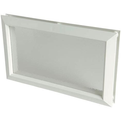 Hublot décoratif rectangulaire 380x225 vitre incolore