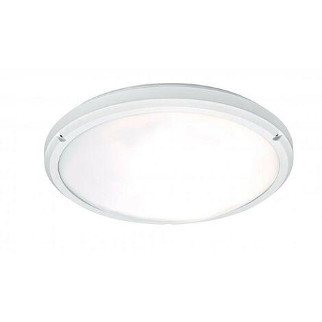 Hublot étanche GEA blanc avec détecteur de présence E27 - 60W - IP54 - sans ampoule