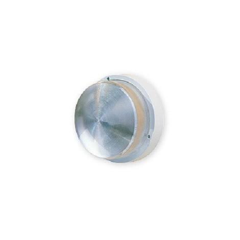 Hublot extérieur Ø 235mm polycarbonate blanc antivandale pour lampe E27 100W max (non incl) IK08 IP44 EBENOID 078435