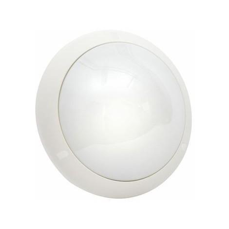 Hublot extérieur blanc Ø 309mm antivandale avec détection de mouvement HF lampe E27 230V (non incl) IP55 IK10 SPO SARLAM 714475