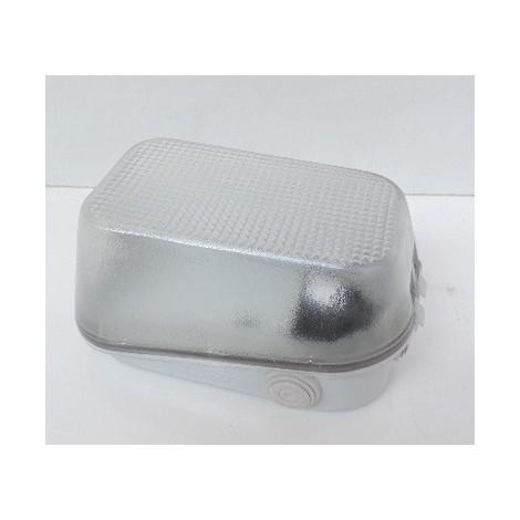 Hublot extérieur gris 110X190X90mm polycarbonate pour lampe B22 75W max (non incl) 250V IP55 IK08 Mureva SCHNEIDER ENN34232