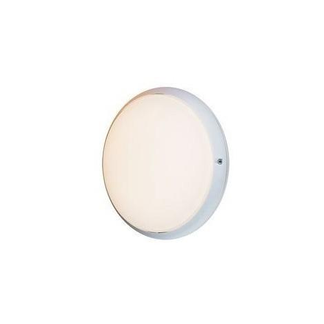 Hublot extérieur halogene 52W Ø 245mm anneau blanc diffuseur verre avec lampes E27 3000K 230V CL2 IK02 IP54 DUNE EBENOID 079002