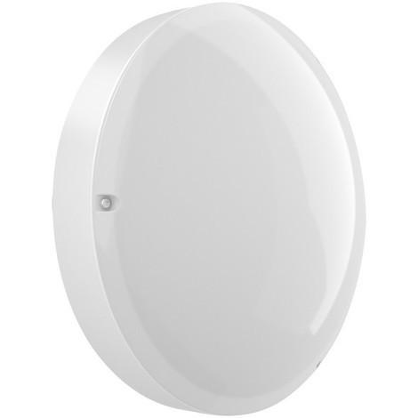Hublot extérieur LED 11W Ø 320mm polycarbonate blanc 4000K 950lm 230V CL2 IK10 IP54 AXIOME T2 EBENOID 873085