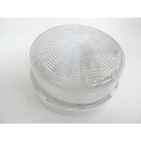 Hublot extérieur rond Ø 190mm diffuseur verre pour lampe E27 230V 75W max (non incl) IP44 IK04 L'EBENOID 077744
