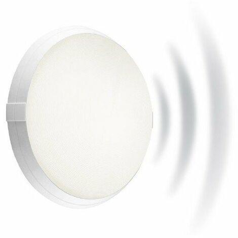 Hublot fonctionnel Super 400 antivandale avec détecteur HF en polycarbonate - E27 - 53W - Rond - Blanc - Non dimmable