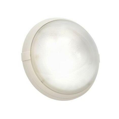 Hublot fonctionnel Super 400 antivandale en polycarbonate - E27 - 70W - Fonction On/Off - Rond - Blanc - Non dimmable