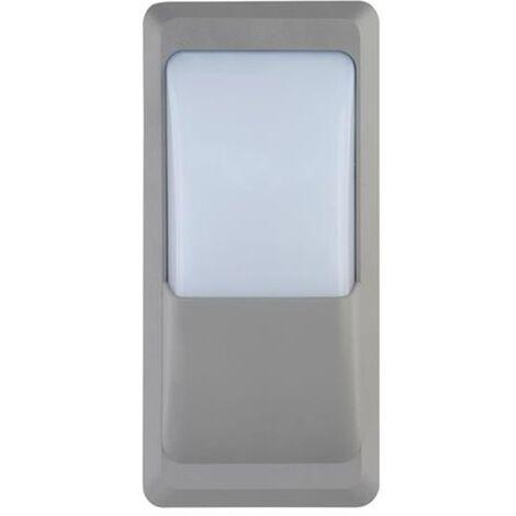 Hublot ILGIN rectangulaire gris à LED 12W (Eq. 96W) IP65 4200K Dim. 230x110x76mm
