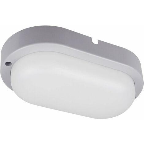 Hublot LED Extérieur Ovale 12W 4000K IP54 Gris CREALYS
