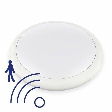 - Hublot LED Rond 12W IP65 270mm Blanc Neutre avec détecteur - NOVA - DeliTech®