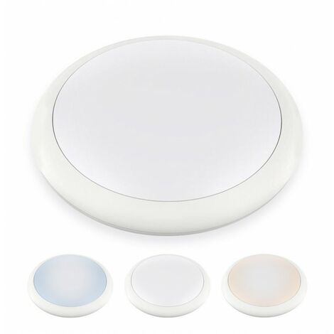 Hublot LED Rond ø 320 mm NOVA - 18 W - IP 65 - Triple couleur de blanc - DeliTech®