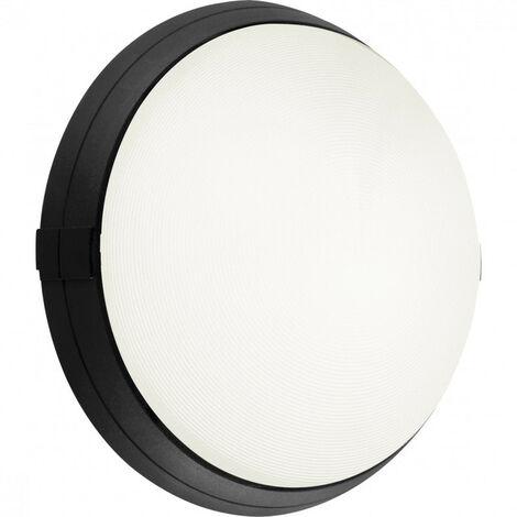 Hublot noir standard à diffuseur polycarbonate transparent Super 400 avec fonction ON et OFF et douille E27 à équiper (501276)