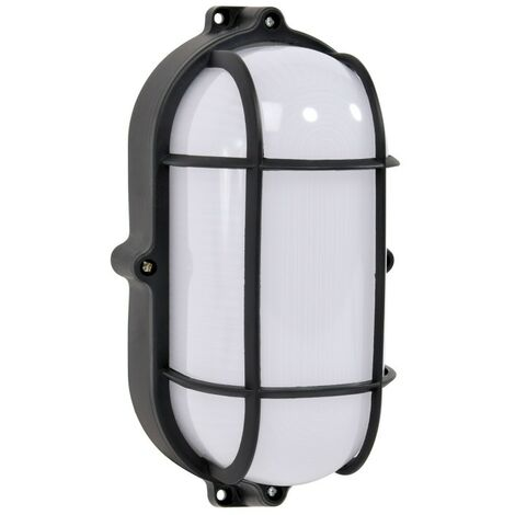 Hublot oval avec grille LED 12w 110 mm