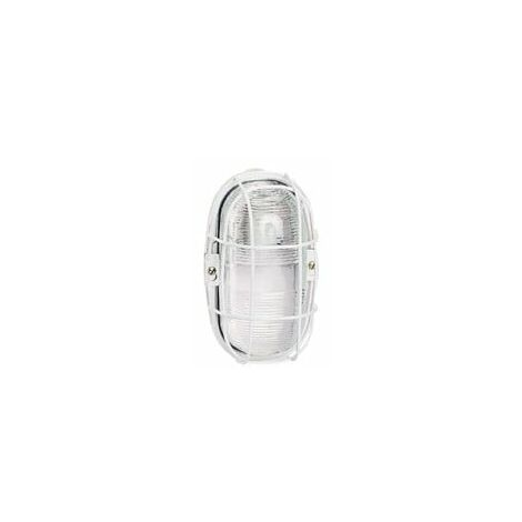 Hublot ovale étanche pour environnements sévères avec diffuseur verre incolore et culot E27 (060477)