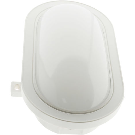 Hublot ovale LED 15W 1050 lm IP44 Blanc