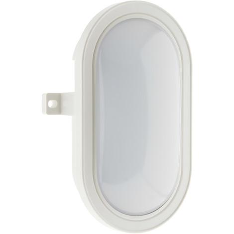 Hublot ovale LED 5,5W 450lm 4000k IP44 - Blanc