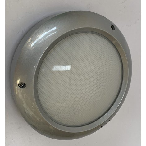 Hublot plafonnier exterieur Ø 270mm gris argent lampe 2X18W G24d-2 (non incl) ballast 230V IP55 CONSTELLATION 27 NEMO LC2OFD311