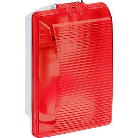 Hublot Plexo étanche -IP54/IK08- lampe incandescence 75 W - diffuseur rouge
