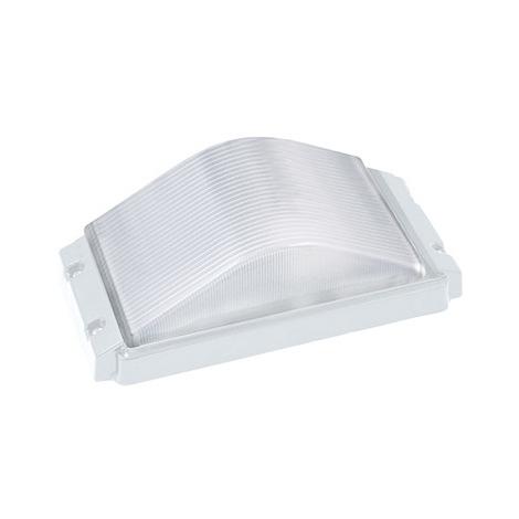 Hublot rectangulaire blanc 60W (Eq. 12W FLC - 8W LED) IP54 E27 Dim. 265x130x100mm