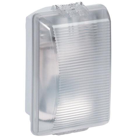 Hublot rectangulaire étanche Plexo avec diffuseur clair pour lampe E27 (062400)