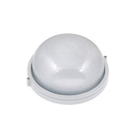Hublot rond blanc 60W (Eq. 12W FLC - 8W LED) IP54 E27 Diam. 180mm